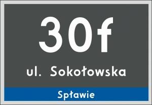 Tablica adresowa Poznań 32 cm x 22 cm