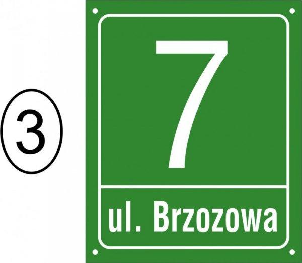 Tabliczka adresowa 30,5 cm x 37 cm (odblask)