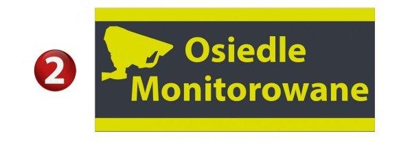 Tablica osiedle monitorowane 45/20cm (odblask)