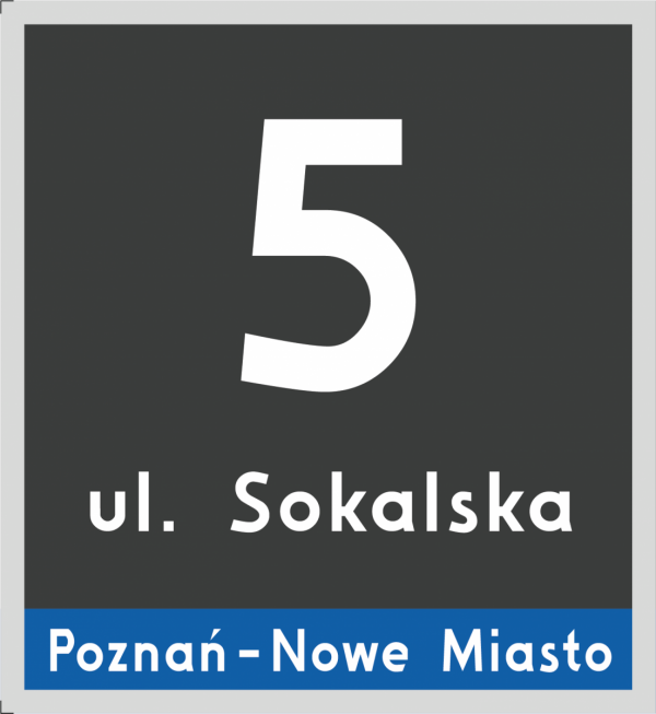 Tabliczka adresowa Poznań 23/25cm