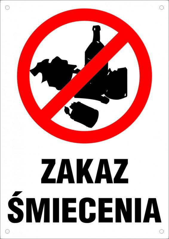 Zakaz śmiecenia