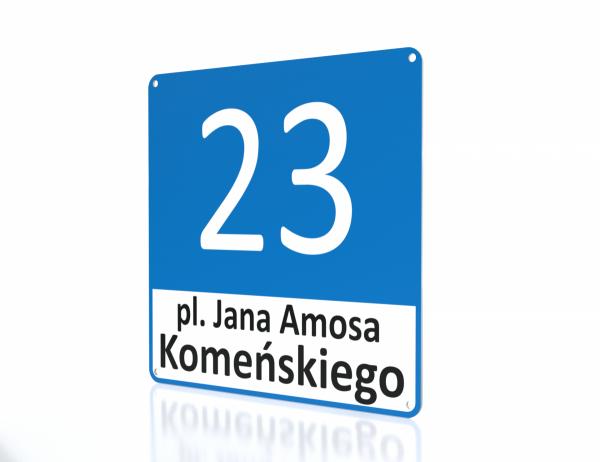 Tablica adresowa Leszno 30/30cm
