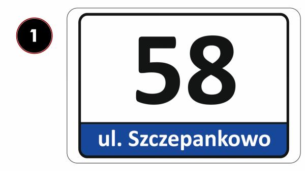 Tablica adresowa odblaskowa 30/20cm