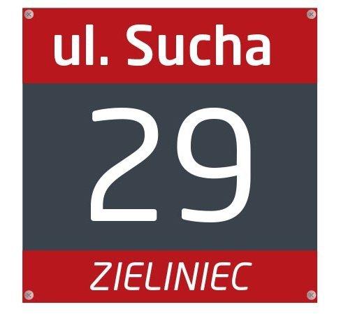 W Ultra tabliczka z numerem domu - cyfry na dom - tablicee.pl UR86