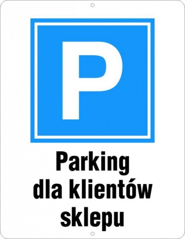 Parking dla klientów sklepu