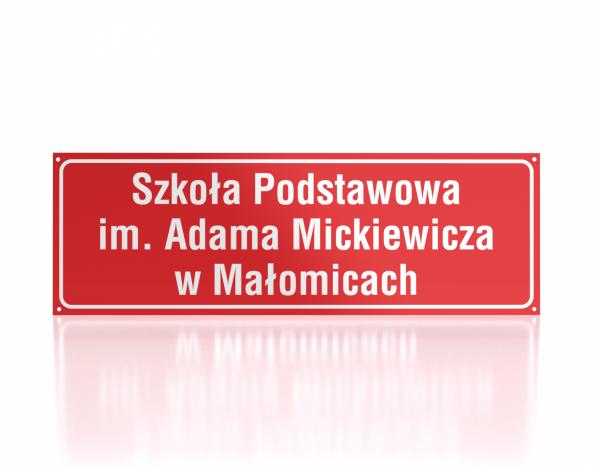 Tablca informacyjna Szkoła Podstawowa