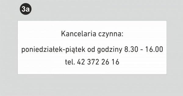 Tablica z godzinami urzędowania - tablica notariusz
