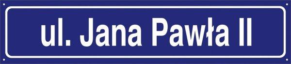 Tablica z nazwą ulicy 75 cm x 16,5 cm