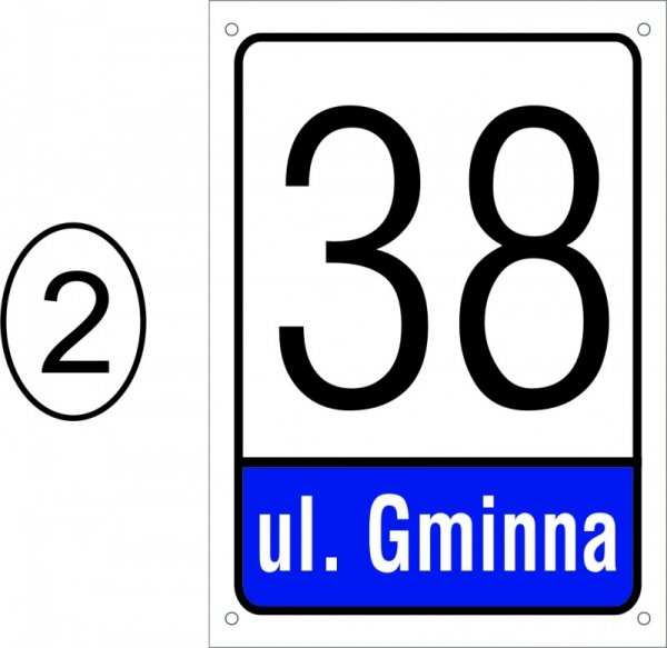 Tabliczka adresowa 21 cm x 29,7 cm