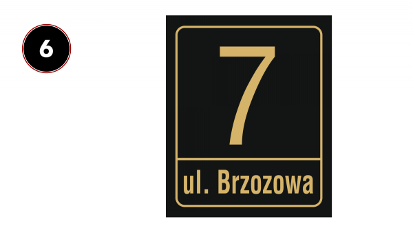 Tablica adresowa na dom 30,5/37cm