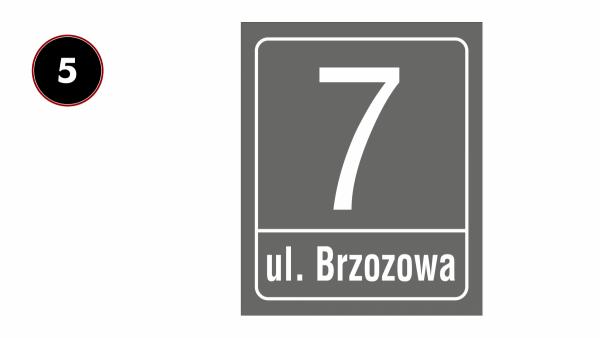 Tablica na dom z numerem 30,5/37cm