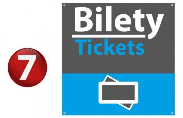 Tablica bilety, biletomat 40/40cm (odblask)