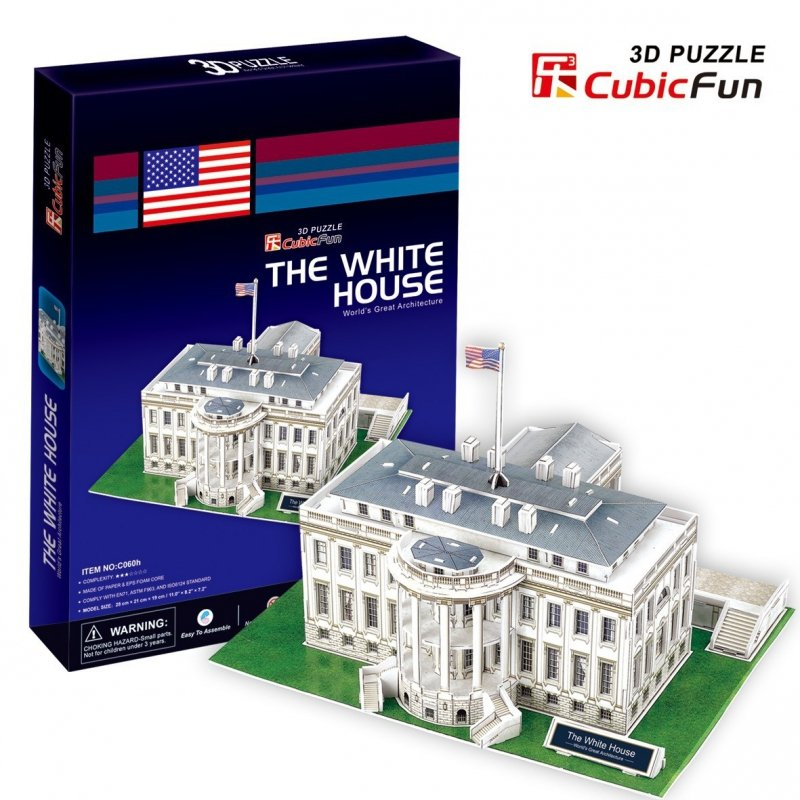 Puzzle 3D Biały Dom