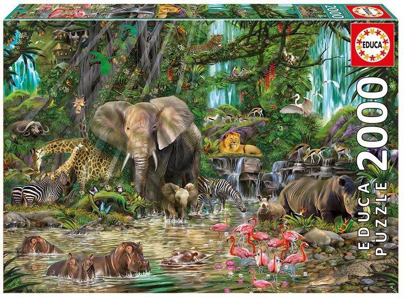 Puzzle 2000 elementów Afrykańska Dżungla