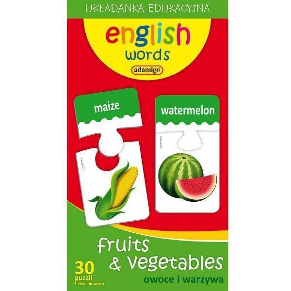 Puzzle Edukacyjne Owoce i Warzywa angielski