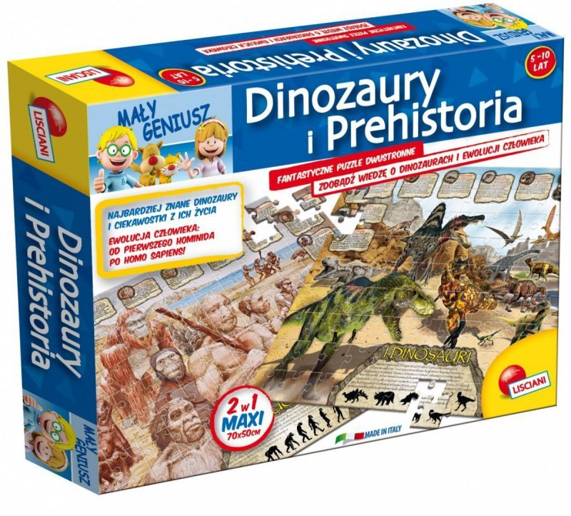 Geopuzzle dinozaury Mały Geniusz