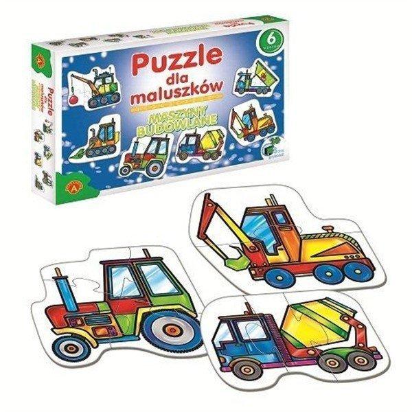 Puzzle dla Maluszków - Maszyny Budowlane