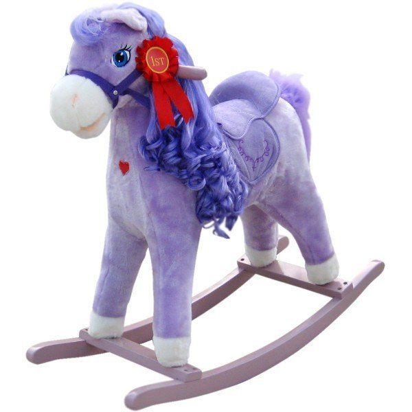 Koń na biegunach. Princess. Fioletowy