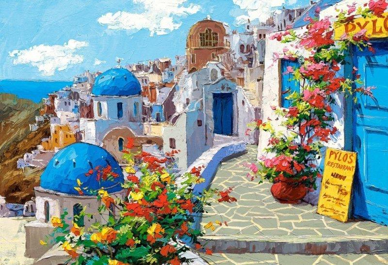 2000 EL. Wiosna w Santorini