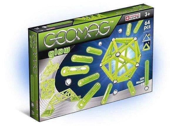 Klocki magnetyczne Glow 64 elementów