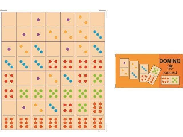 Drewniane Domino tradycyjne 28 klocków