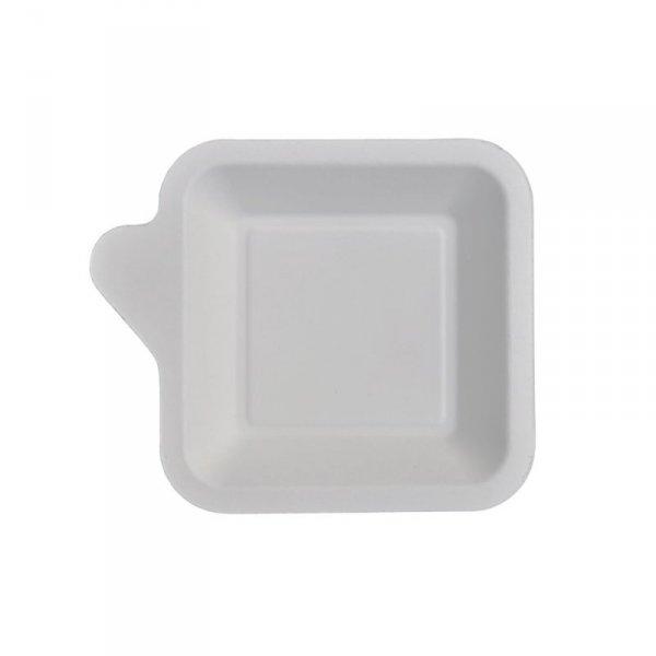 Mini talerzyk z uchwytem z trzciny cukrowej 13x11cm, 50szt