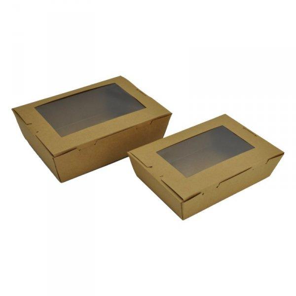 Pudełko lunchowe z okienkiem 1400ml, 50szt
