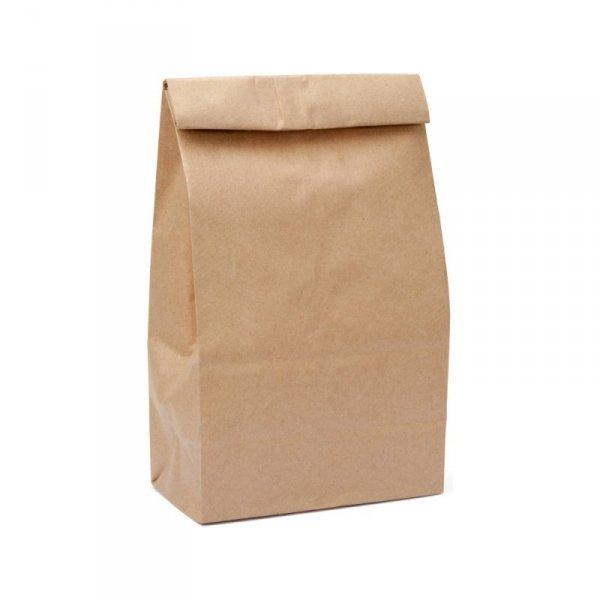 Torba lunchowa EKO 260x150x390 brązowa, 320szt