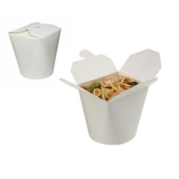 Noodle box white 900ml, 50szt