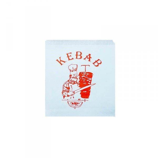 Koperta papierowa KEBAB z nadrukiem 16x17cm, 250szt