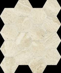 Paradyż Sunlight Stone Beige Mozaika Hexagon 22x25,5