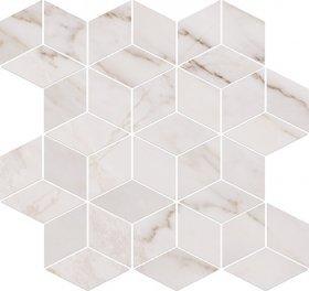 Opoczno Carrara Mosaic White 28x29,7