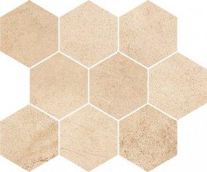 Opoczno Sahara Desert Mosaic Hexagon 28x33,7