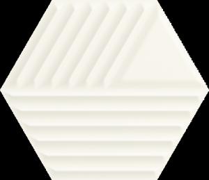 Paradyż Woodskin Bianco Heksagon Struktura C 19,8x17,1