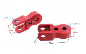 Przedłużka amortyzatora czerwona - FI10