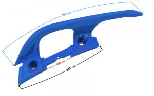 Wspornik - uchwyt pasażera prawy niebieski do skutera B-Max