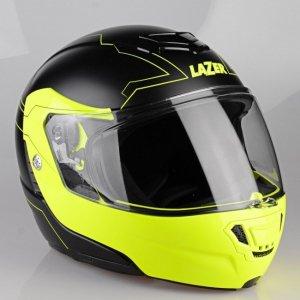 Kask motocyklowy LAZER MONACO EVO Droid Pure Glass czarny matowy/żółty fluo M