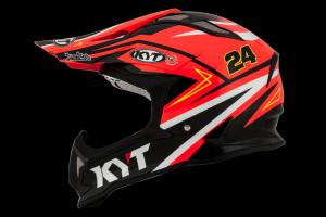 Kask Motocyklowy KYT STRIKE EAGLE SIMPSON REPLICA pomarańczowy - S