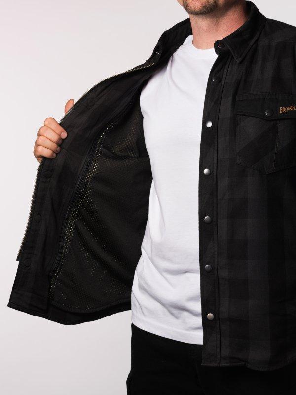 KOSZULA BROGER ALASKA BLACK/GREY XL