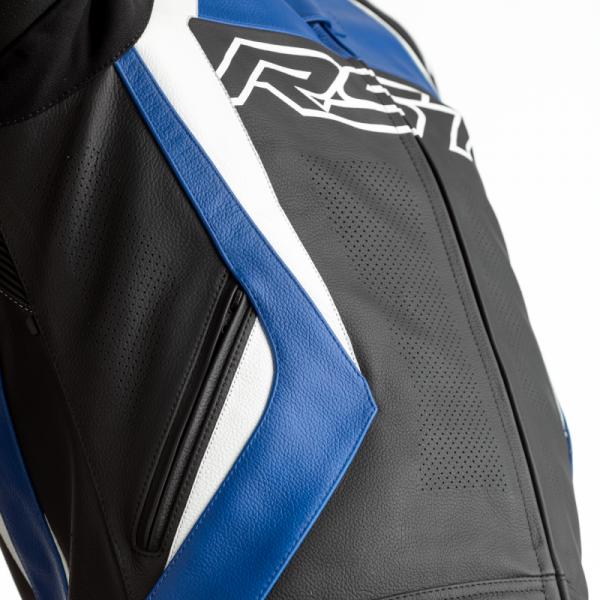KURTKA SKÓRZANA RST TRACTECH EVO 4 CE BLACK/BLUE M (2357)