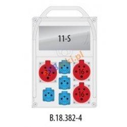 Rozdzielnica R-BOX 382R 11S 2x16A/5p, 1x32A/5p, 4x230V, IP44