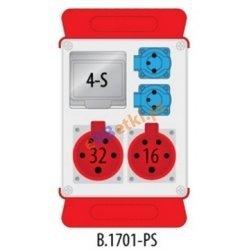 Rozdzielnica R-BOX 240 1x16A/5p, 1x32A/5p, 2x230V puste okno, podstawa stalowa (komplet 2 szt.), IP44