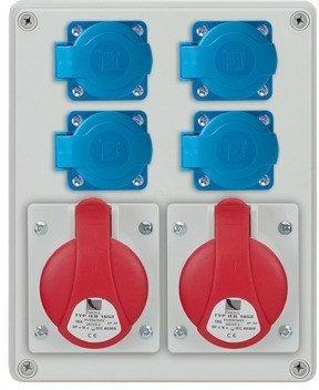 Rozdzielnica R-BOX 240 1x32A/5p, 1x16A/5p, 4x230V, IP44