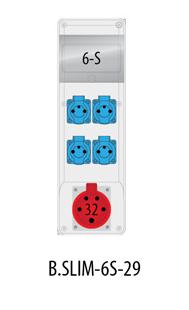 Rozdzielnica R-BOX SLIM 6S 1x32A/5p, 4x230V, IP44