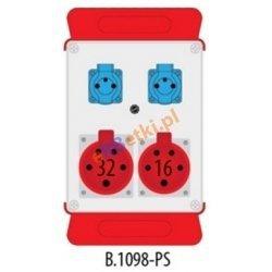 Rozdzielnica R-BOX 240 1x16A/5, 1x32/5 2x230V, podstawa stalowa (komplet 2 szt.), IP44