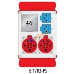 Rozdzielnica R-BOX 240 2x32A/5p, 2x230V puste okno, podstawa stalowa (komplet 2 szt.), IP44