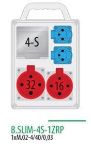Rozdzielnica R-BOX SLIM 4S 1x16A/4p, 1x32A/4p, 2x230V zabezp. 1xM.02-4/40/0,03 IP, 44