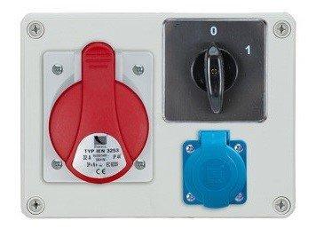 Rozdzielnica R-BOX 190 1x32A/4p, 1x230V, IP44, wył. (0/1)