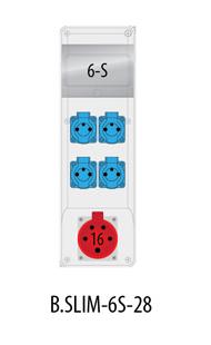 Rozdzielnica R-BOX SLIM 6S 1x16A/5p, 4x230V, IP44
