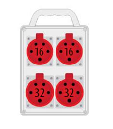 Rozdzielnica R-BOX SLIM 2x16A/5p, 2x32A/5p, IP44